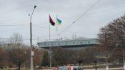 У Сумах здійснили наругу над найбільшим державним прапором